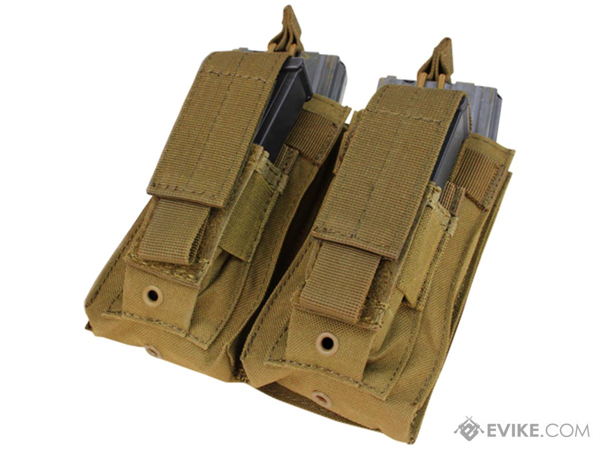 Condor MOLLE Double Kangaroo M16 & Pistol Mag Pouch (Color: Coyote)