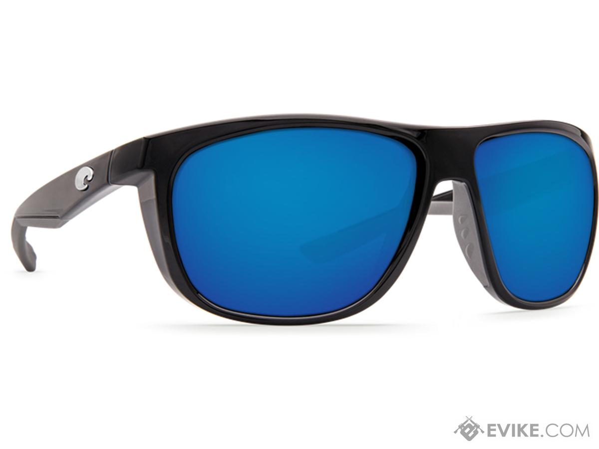Costa MAY11OBMGLP May Sunglasses Shiny Black Frame Blue Mirror Lens 580G