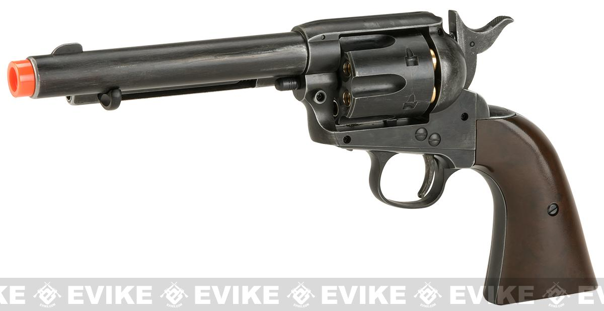 Wingun CO2 Powered 1873 Single Action Airsoft Revolver (Color: Worn Finish)