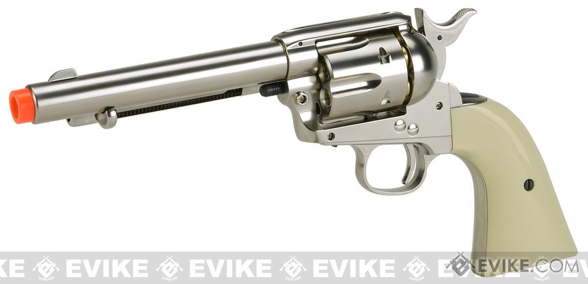 Wingun CO2 Powered 1873 Single Action Airsoft Revolver (Color: High Polish Silver)