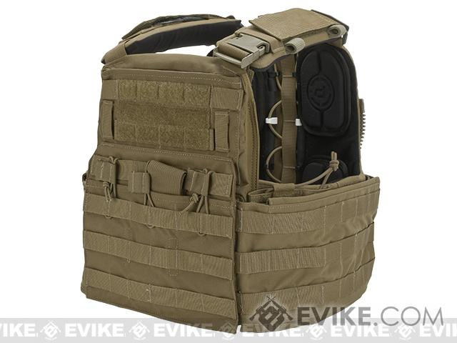 Crye Precision CAGE Plate Carrier and Plate Pouch Set   (Color: Coyote / Medium)