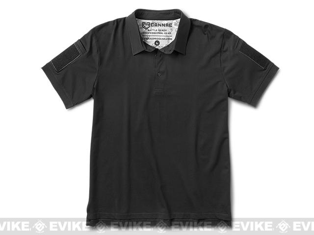 Cannae Professional Operator Cotton Polo Shirt - Black (Size: XX-Large)