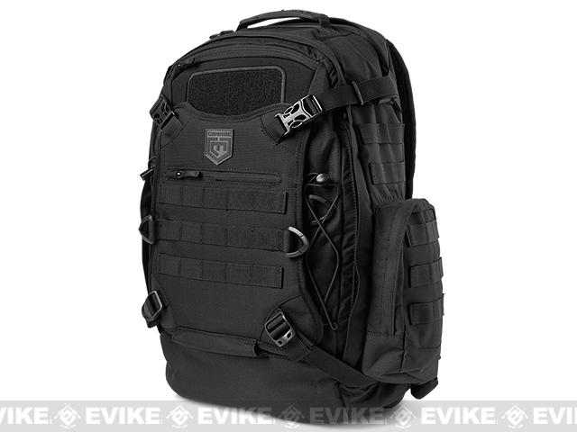 Cannae Phalanx Duty Day Pack with Helmet Carry (Color: Black)