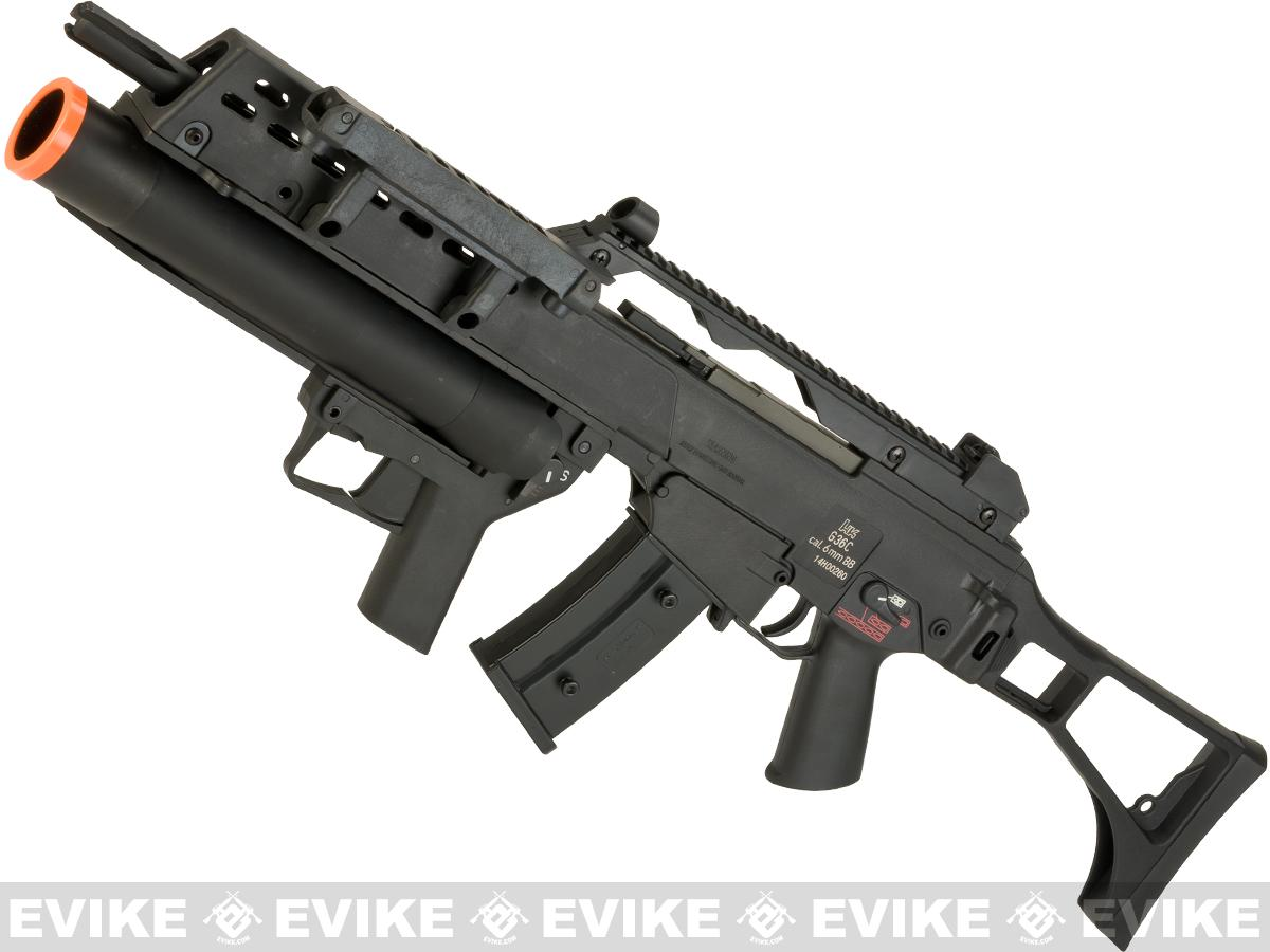Evike Class I Custom H&K G36C / AG36 Grenadier Airsoft AEG EBB Rifle by UMAREX w/ Integrated Scope (Color: Black)