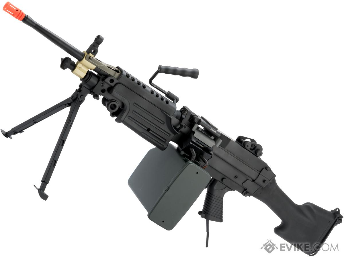 Cybergun FN Licensed M249 Airsoft Machine Gun (Version: MK II / Black / Wolverine Inferno)