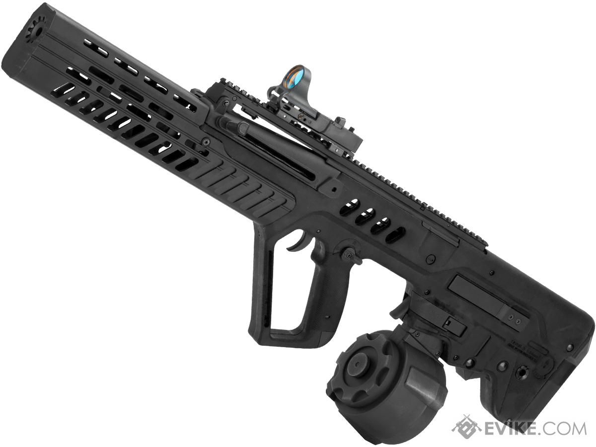 Evike com Custom Eliminator Tavor Tar-21 AEG with Drum Magazine (Color:  Black)