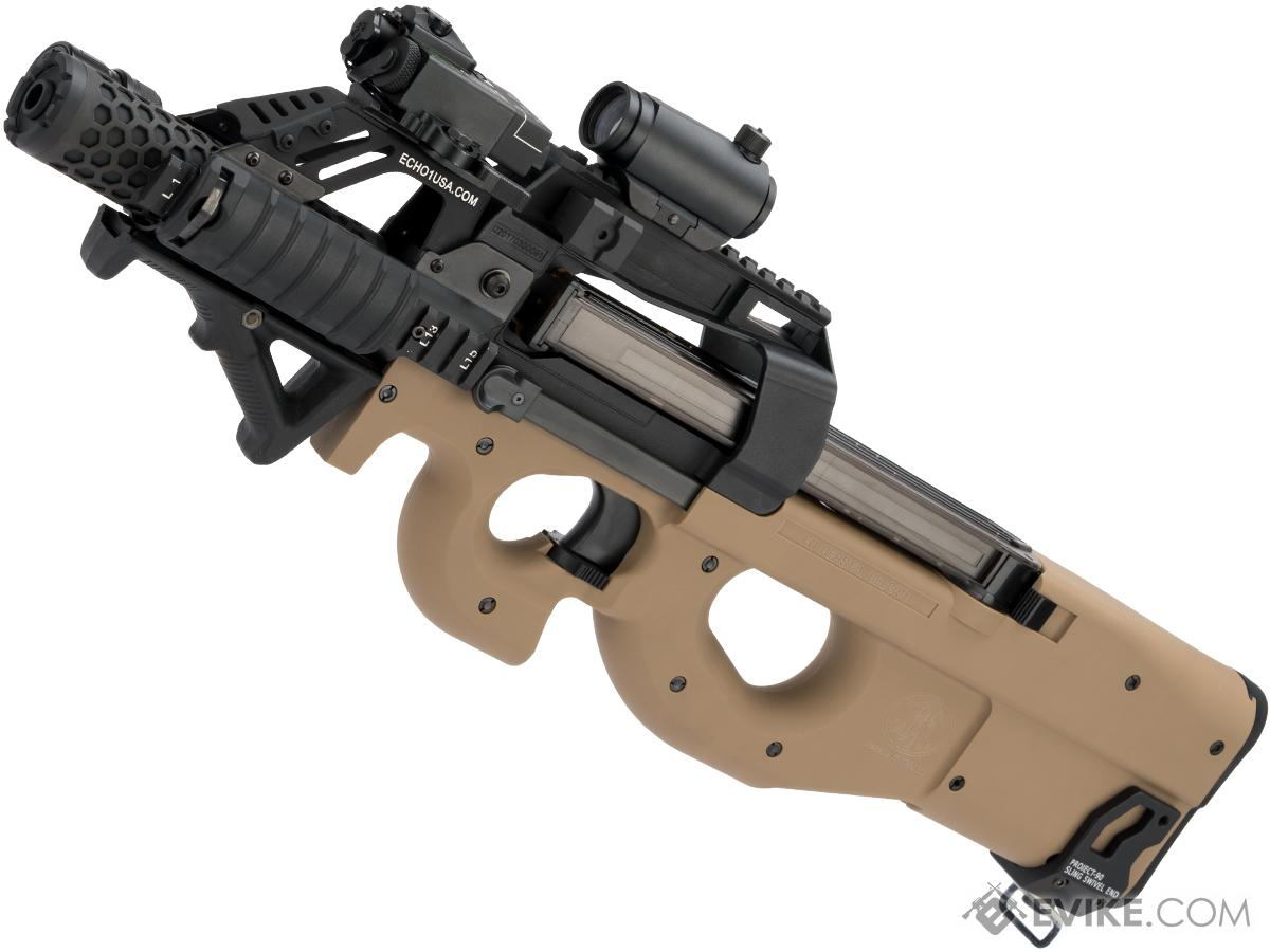 Evike.com Custom Shop Dominator Cybergun / FN Herstal P90 Gas Blowback PDW (Color: Tan)