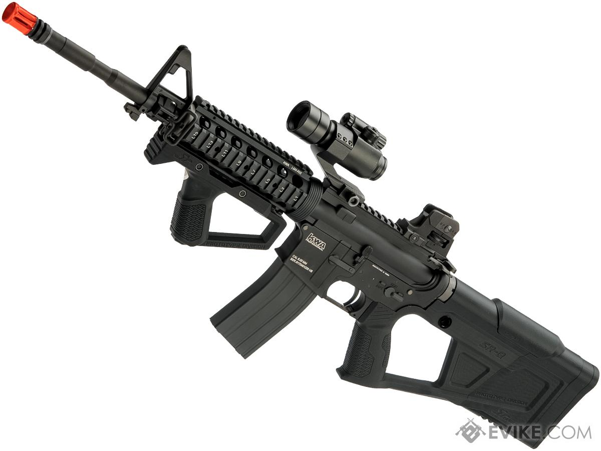 Evike Custom KWA LM4 SRQ Gas Blowback Airsoft Rifle (Color: Black)
