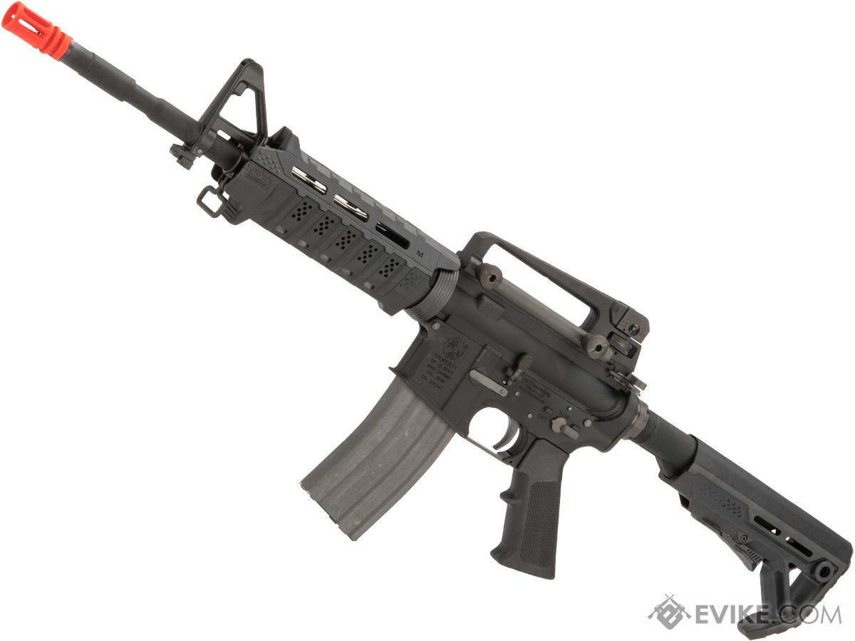 Evike Custom King Arms / Strike Industries Full Metal M4 Viper Carbine Airsoft Gas Blowback GBB Rifle (Color: Black)