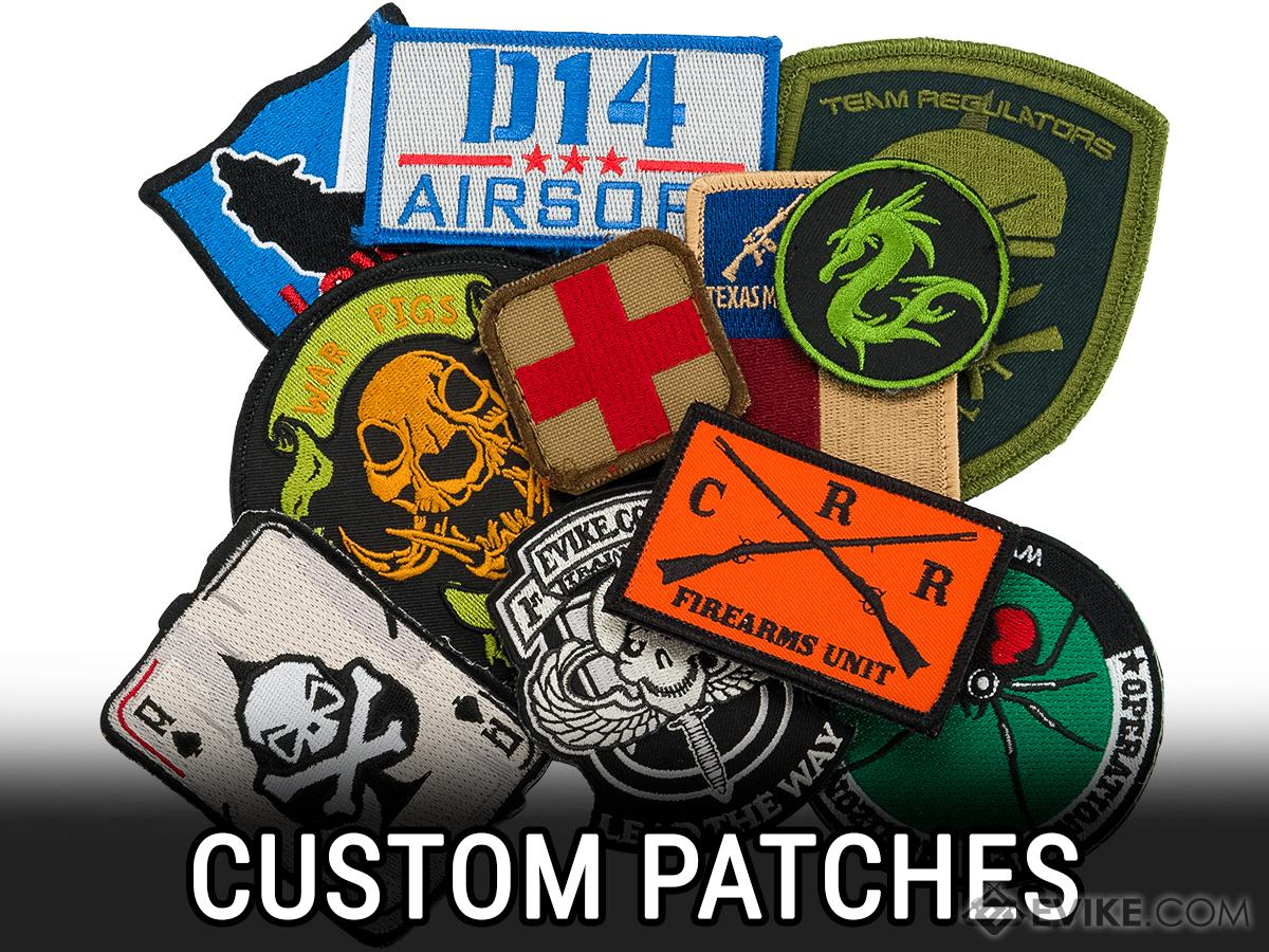 Customized Embroidered Patches for Teams, Companies and other Groups (Qty: 50 Patches)