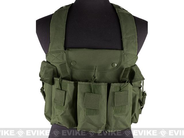 NcStar Tactical 6 Pouch AK Chest Rig (Color: OD Green)