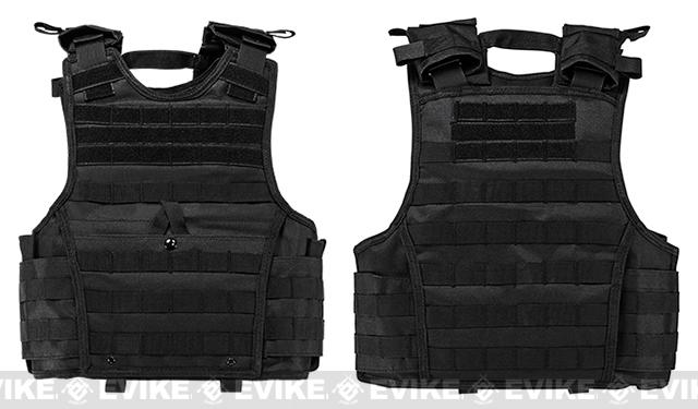 VISM / NcStar Expert Tactical Plate Carrier - Black (Size: Small)