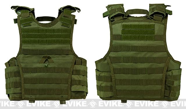 VISM / NcStar Expert Tactical Plate Carrier - OD Green (Size: Large)