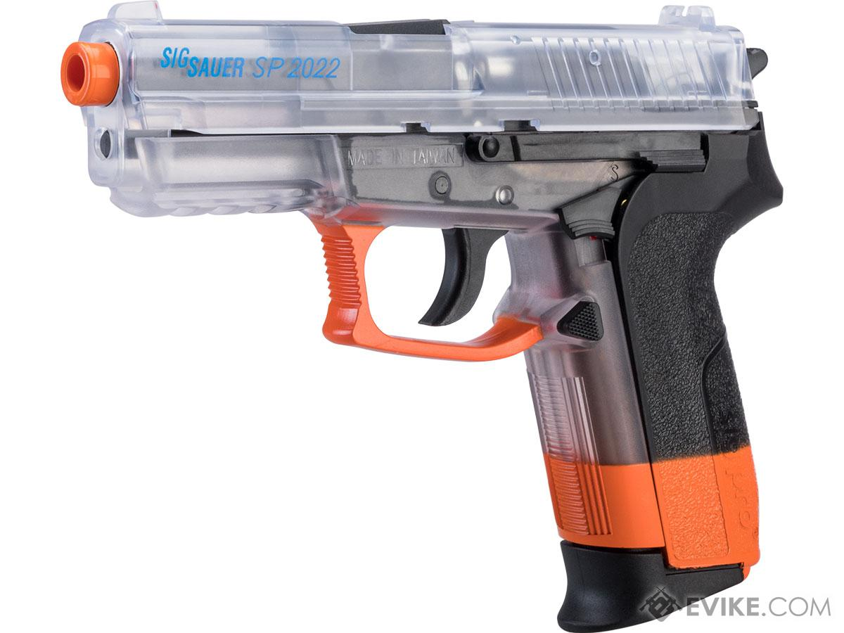 Swiss Arms Licensed SIG Sauer SP2022 CO2 Airsoft Gas Non-Blowback Pistol by KWC (Model: Clear Orange)