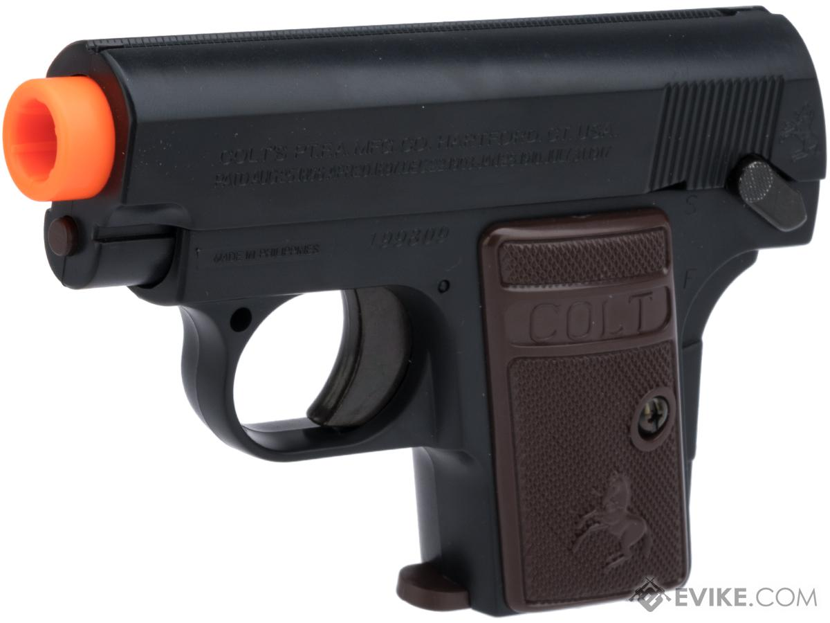 Colt Licensed 1908 Vest Pocket Hammerless .25 ACP Full Size Airsoft Replica Pistol (Color: Black)
