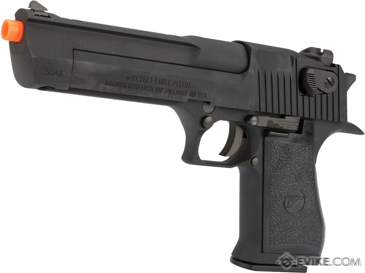 Pre-Order ETA November 2018 WE-Tech Desert Eagle .50 AE Full Metal Gas Blowback Airsoft Pistol by Cybergun (Color: Black)