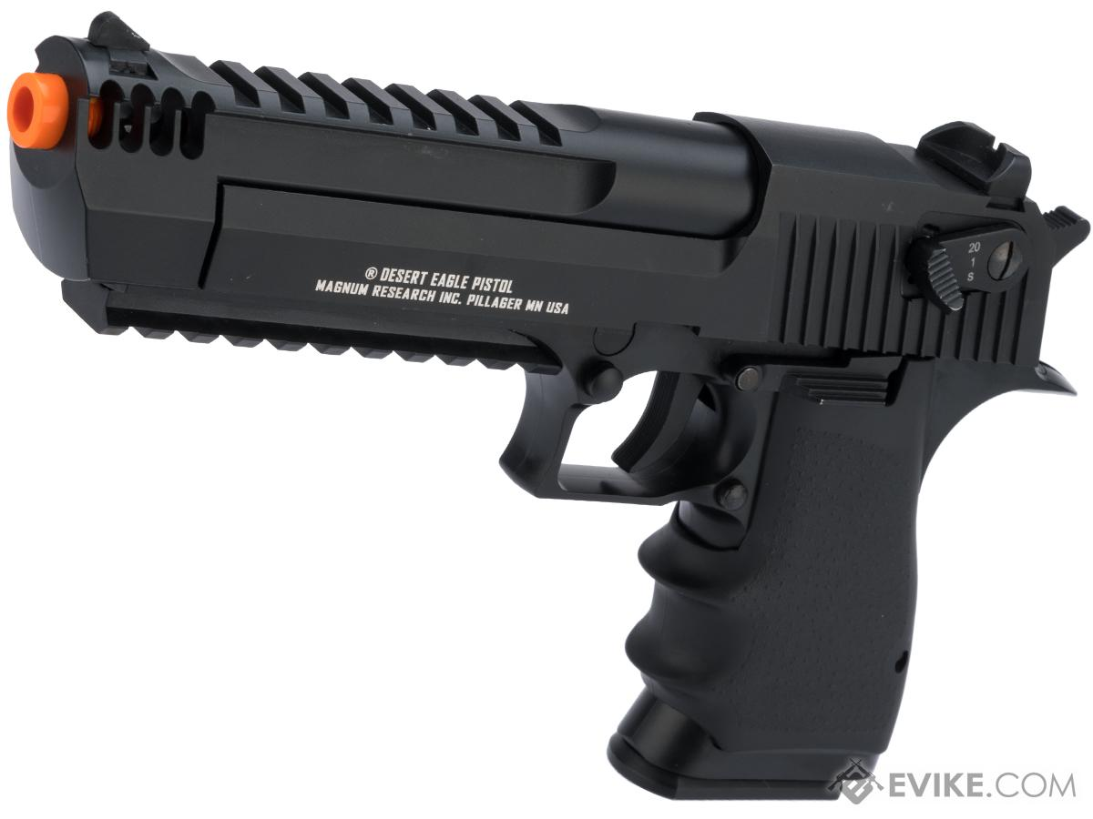 Pre-Order ETA August 2021 Magnum Research Licensed Semi/Full Auto Metal Desert Eagle L6 CO2 Gas Blowback Airsoft Pistol by KWC (Color: Black)