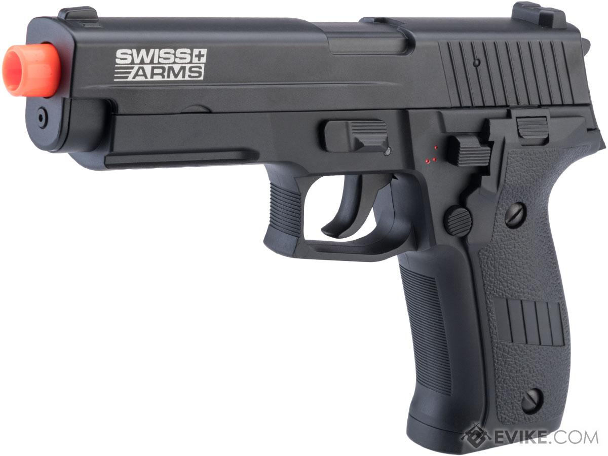 Swiss Arms Licensed Full Auto Select Fire 226 Airsoft AEP Hand Gun w/ MOSFET & USB Charging Cable