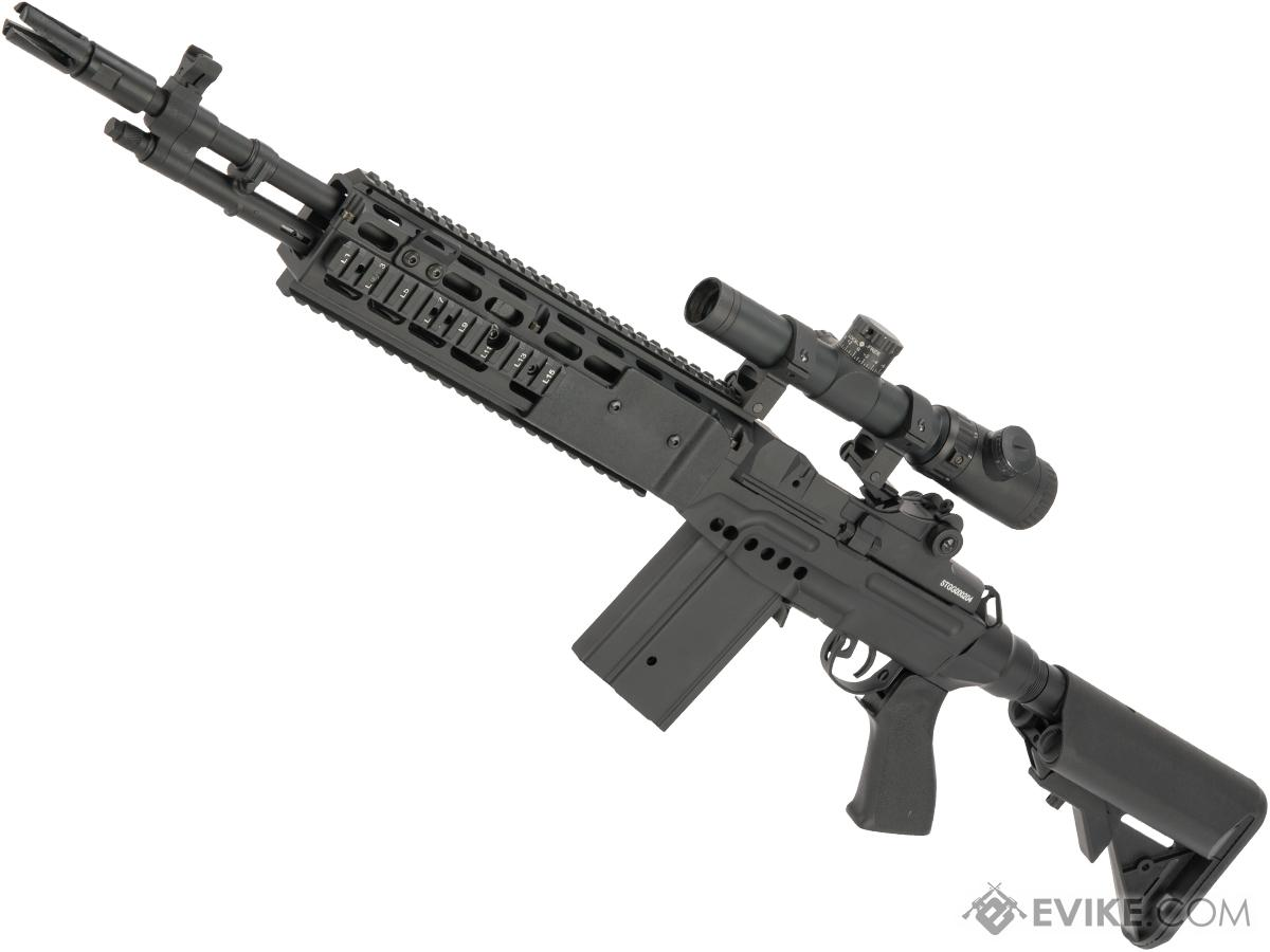 CYMA Full Metal M14 EBR Designated Marksman Rifle Airsoft AEG (Color: Black / Crane Stock / Gun Only)