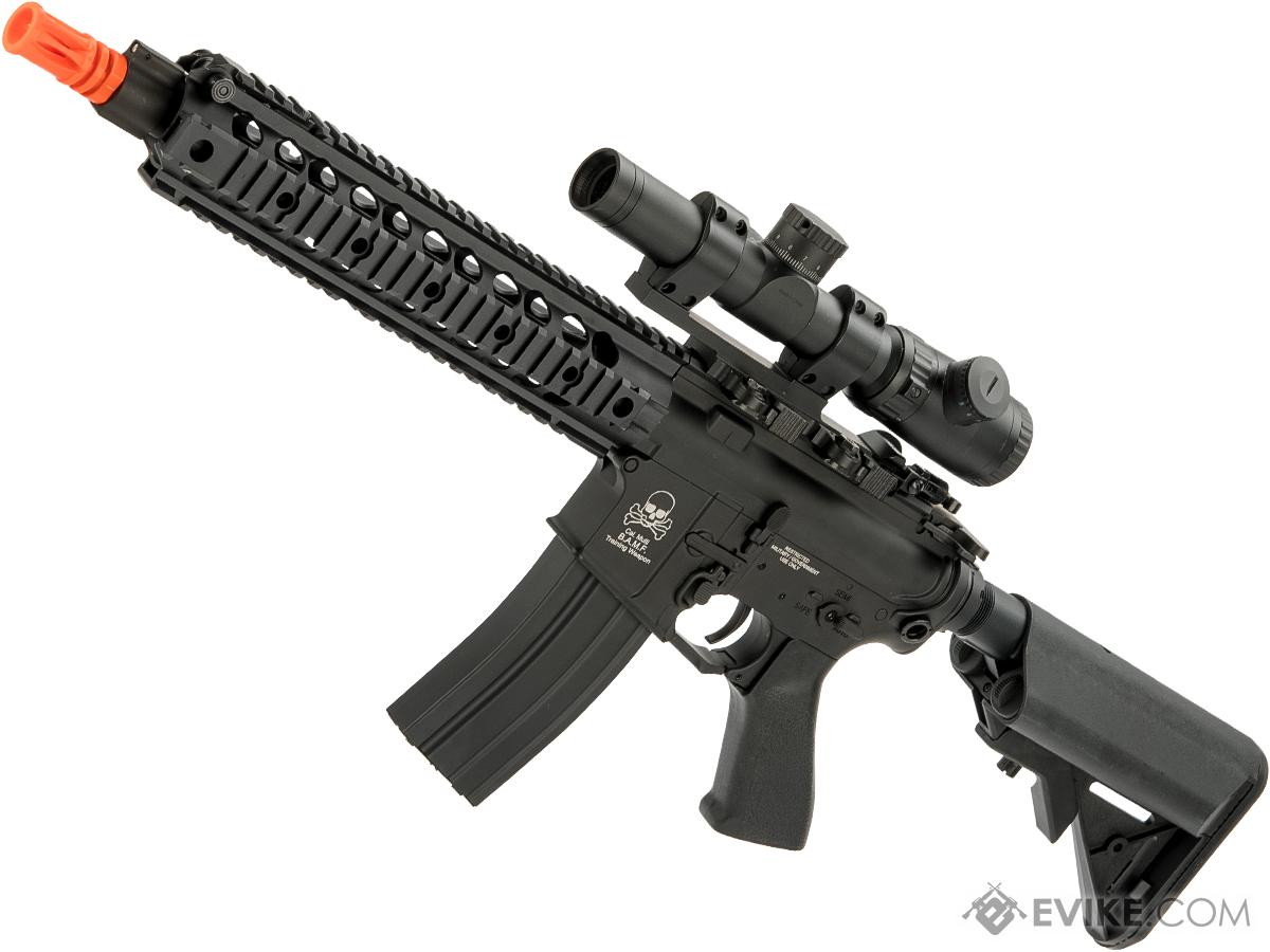 CYMA M4 SR16 E3 Full Metal Li-Po Ready High Performance Competition Airsoft AEG (Color: Black)