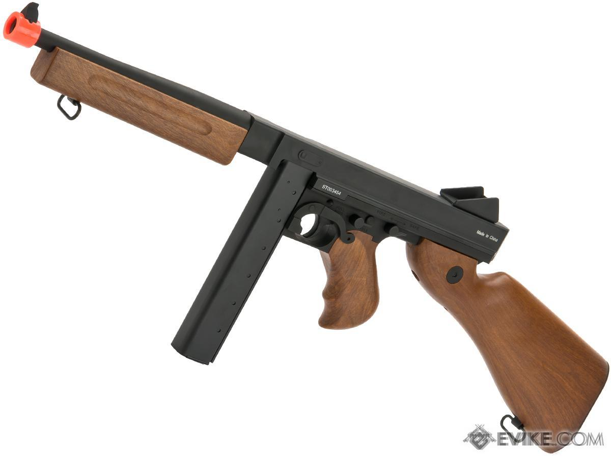 CYMA M1A1 Tommy Gun Submachine Full Metal Airsoft AEG Rifle by CYMA  (Package: Gun Only)