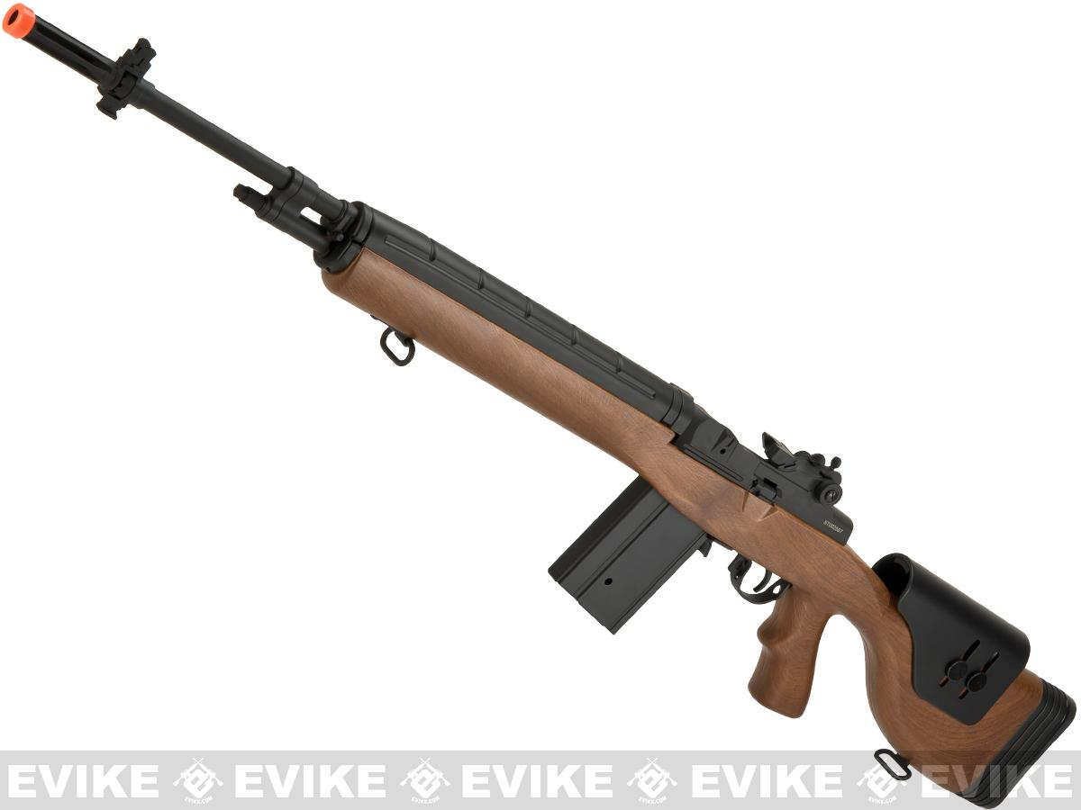 CYMA Full Size M14 Airsoft AEG with Polymer DMR Style Stock (Package: Imitation Wood / DMR Stock / Gun Only)