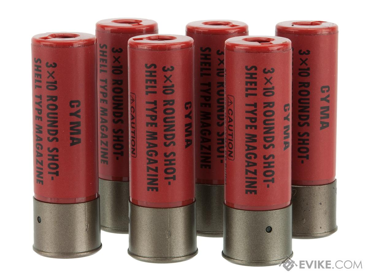 cyma 30 round shotgun shell magazines for 3 round burst airsoft