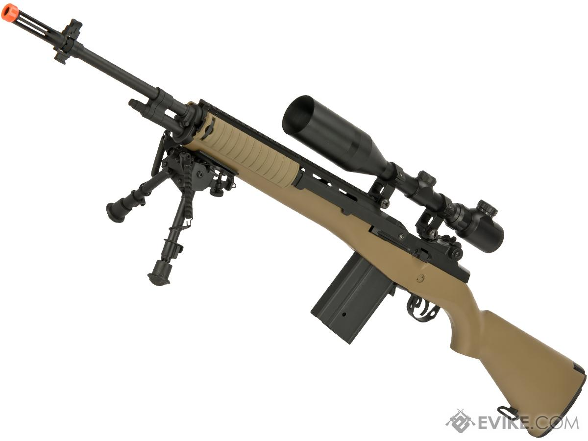 Matrix Field Ops Series M14 DMR Airsoft AEG Package by CYMA (Color: Tan)