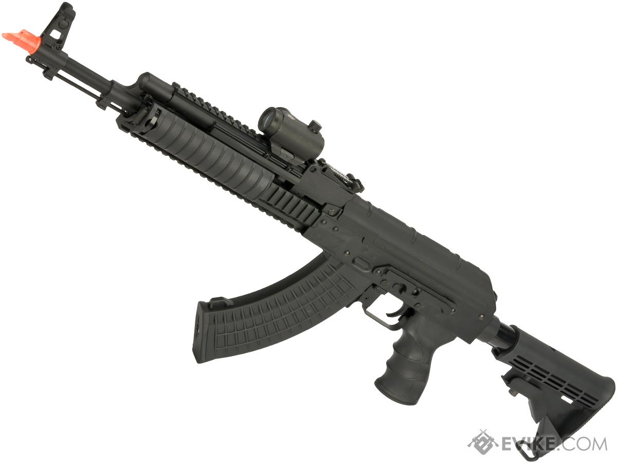 Matrix Field Ops Series AK74 TAC RIS Airsoft AEG Package by CYMA (Color: Black)