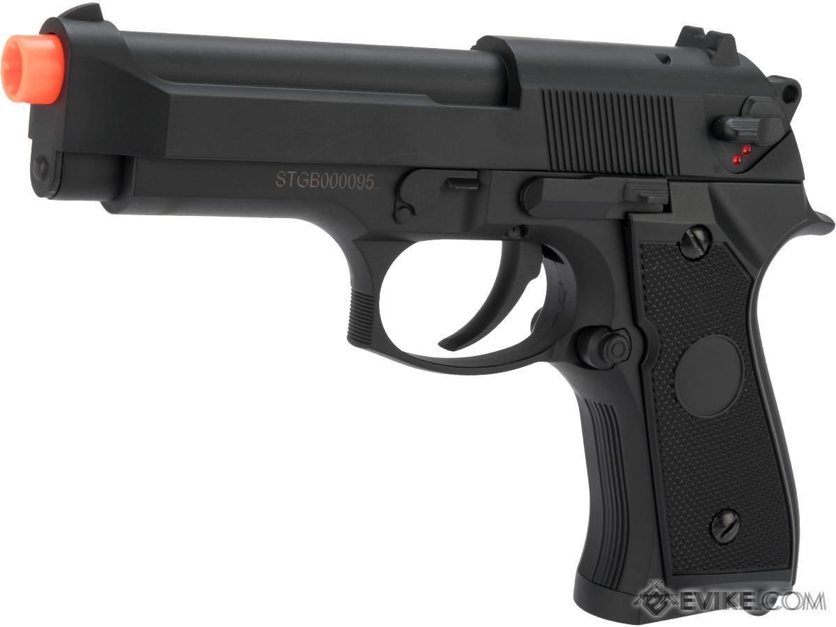 CYMA AEP Full Auto Select Fire M9 Airsoft AEP Pistol Package (Color: Black)