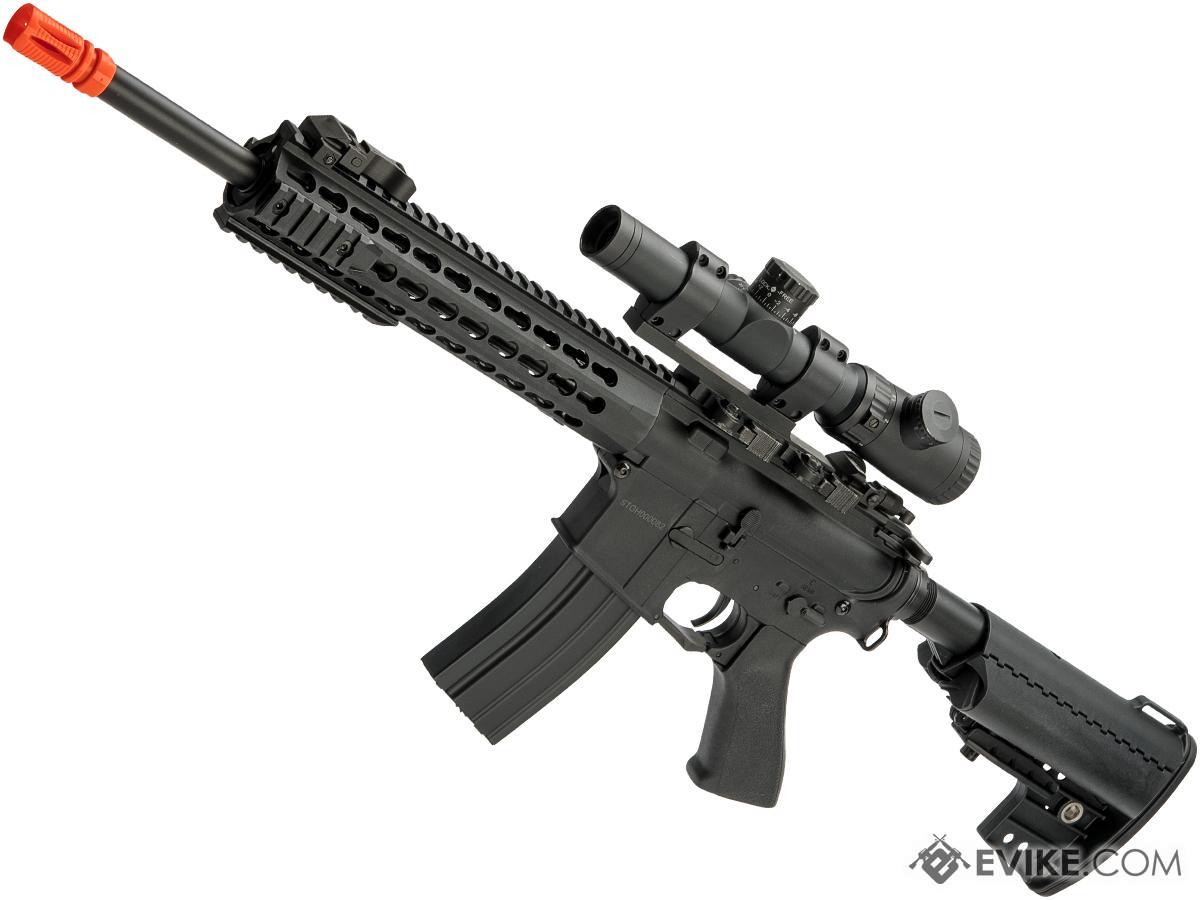 CYMA Polymer M4 Airsoft AEG with 10 Keymod Modular Handguard (Color: Black)