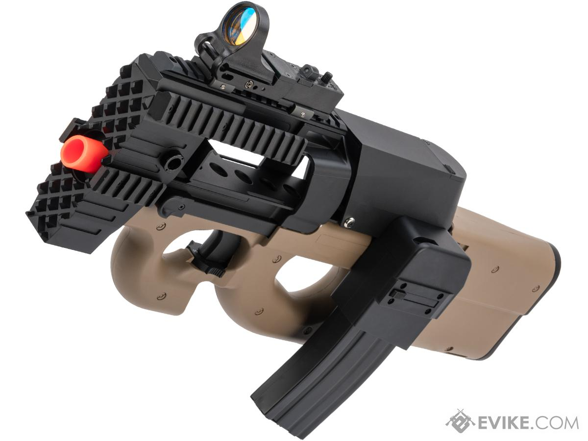 Evike.com Custom Swordfish P90 with Terminator Magazine Conversion Kit (Color: Tan)