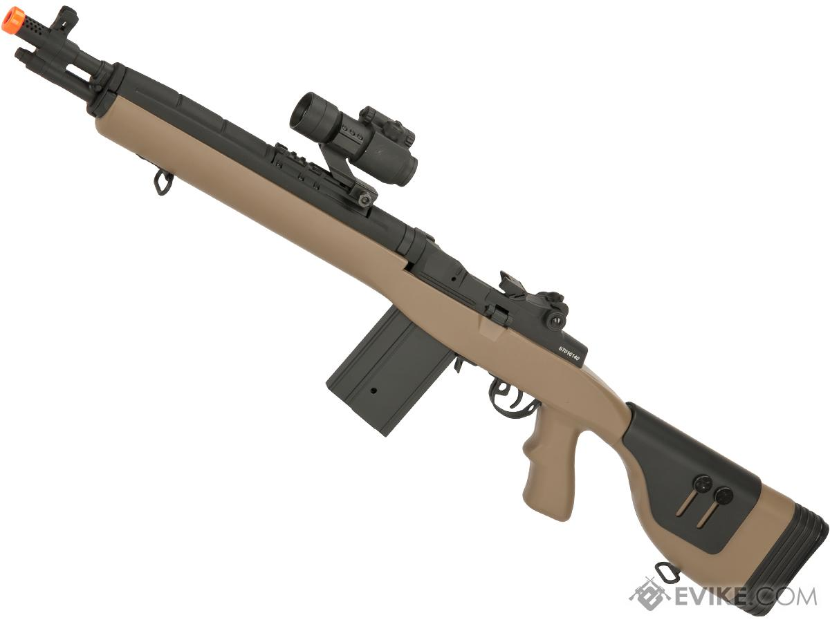 CYMA Socom-16 M14 Full Size Airsoft AEG (Package: Tan / DMR Stock / Gun Only)