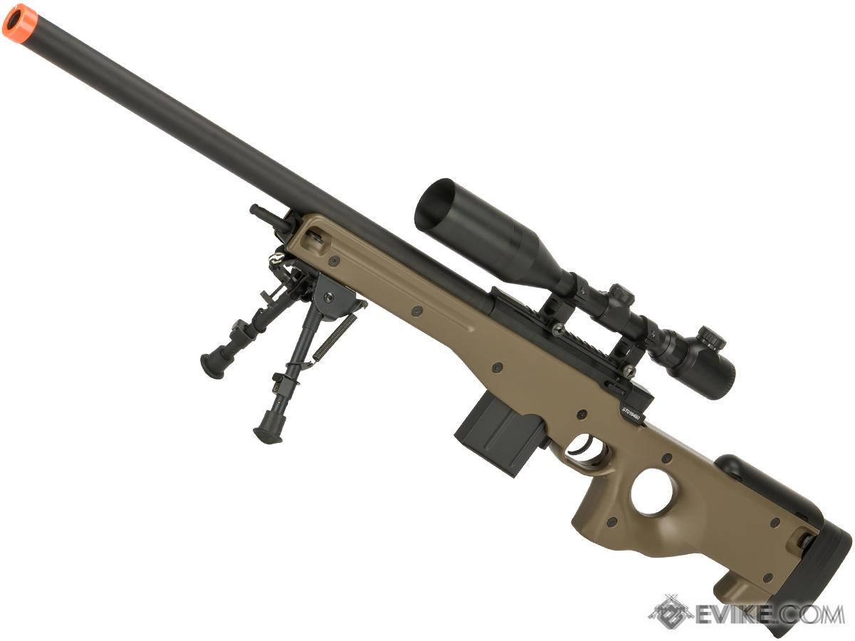 cyma advanced cm703 l96 bolt action high power airsoft sniper rifle color tan