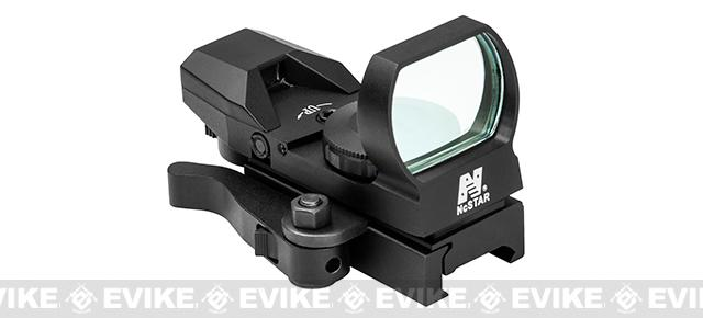 Pre-Order ETA July 2020 NcSTAR LED 4 Reticle Blue Dot Reflex Sight w/ QR Mount