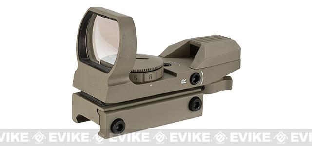 NcStar / VISM Red & Green Four Reticle Reflex Optic - Tan