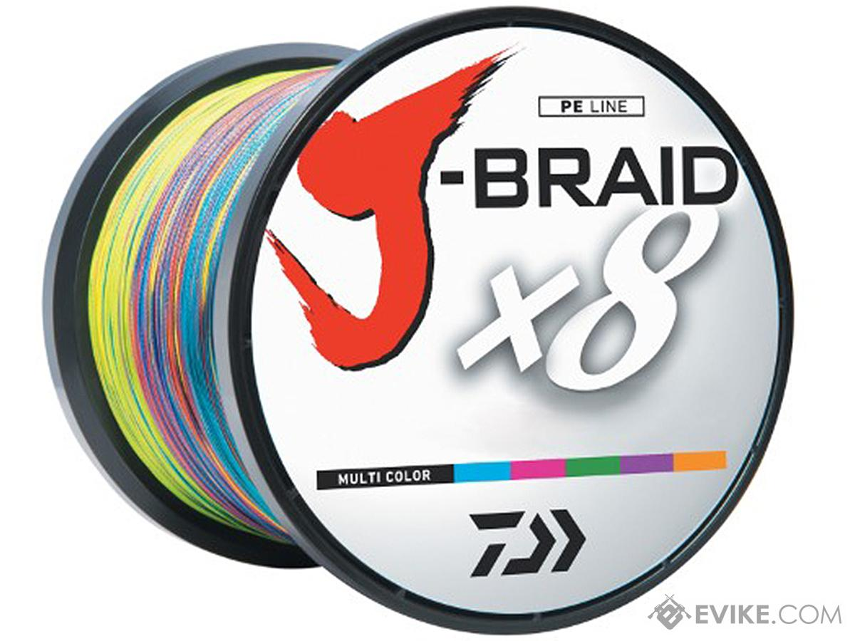 Daiwa J-Braid 3300YDS / 3000M 8-Strand Woven Round Braid Line (Weight: 65 Pounds / Multicolor)