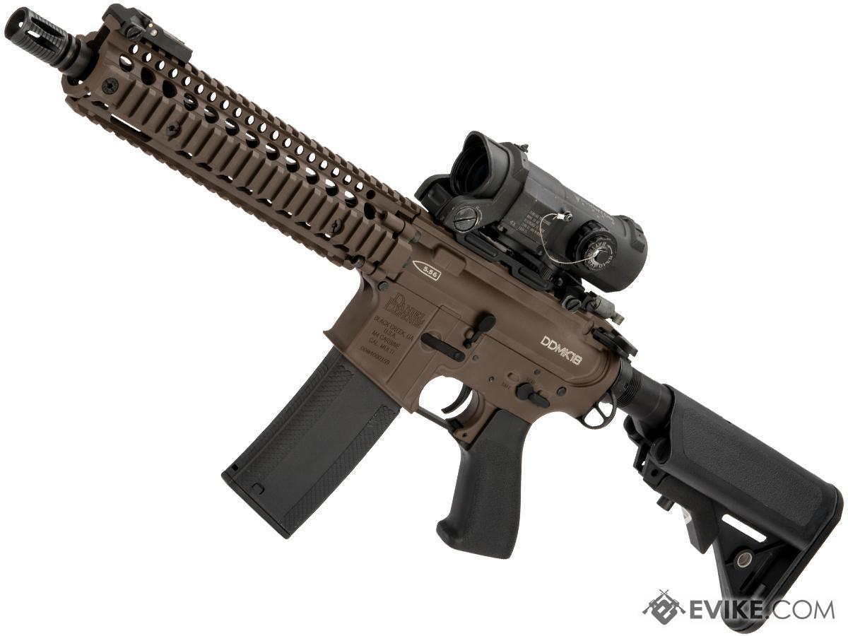 Pre-Order ETA October 2018 EMG Custom Built Daniel Defense MK18 Series Airsoft AEG w/ i5 Gearbox System Cerakote Finish (Color: Mil-Spec Brown)
