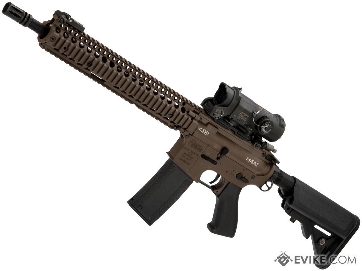 Pre-Order ETA October 2018 EMG Custom Built Daniel Defense 12 Series Airsoft AEG w/ i5 Gearbox System Cerakote Finish (Color: Mil-Spec Brown)