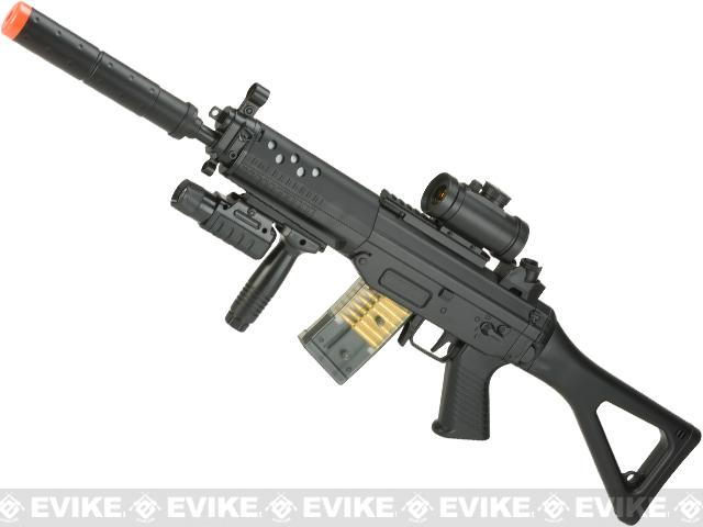 Full Size 552 Airsoft Low Power Airsoft AEG Electric Rifle Package by DE