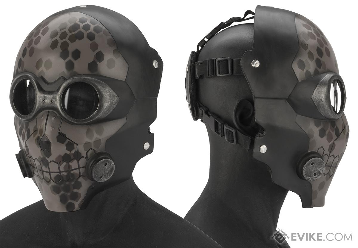 Evike.com R-Custom Fiberglass  Death Gun Full Face Mask  (Color: Digital Camo / Clear Lens)