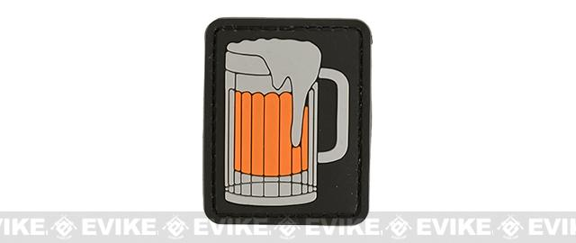 Rubberized PVC Big Beer Tactical Patch - 3 Color