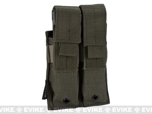 Pro-Arms Tactical MOLLE Double Pistol Magazine Pouch - Foliage Green