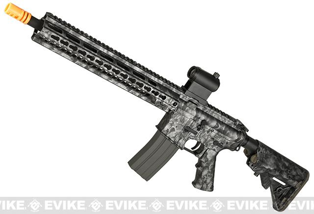 DYTAC MK5 SMR 14.5 Black Jack M4 Carbine Water-Transfer Airsoft AEG Rifle (Color: Reaper Black)