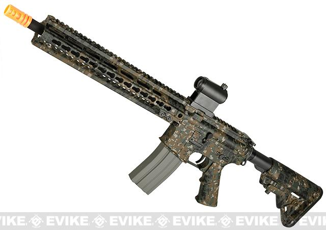 DYTAC MK5 SMR 14.5 Black Jack M4 Carbine Water-Transfer Airsoft AEG Rifle (Color: Digital Woodland)