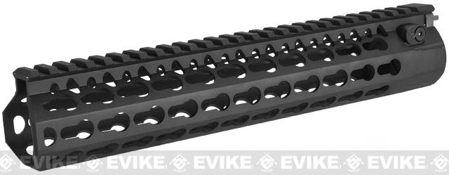 DYTAC Modular 10 KeyMod Rail System for M4 Series Airsoft AEG Rifles (Color: Black)