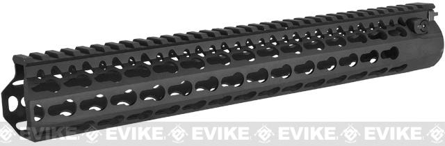 DYTAC Modular 13 Bravo KeyMod Rail System for M4 Series Airsoft AEG Rifles (Color: Black)