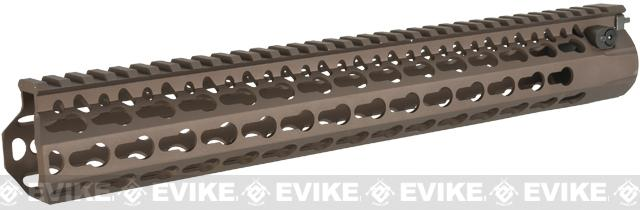 DYTAC Modular 13 Bravo KeyMod Rail System for M4 Series Airsoft AEG Rifles (Color: Burnt Bronze)
