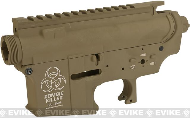 DYTAC Zombie Killer Metal Receiver for M4 / M16 Series Airsoft AEG Rifles  - Dark Earth
