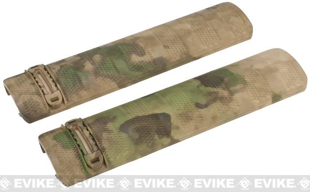 DYTAC 6 Camo Polymer Airsoft Rail Covers - Set of 2 (Color: Arid Foliage)